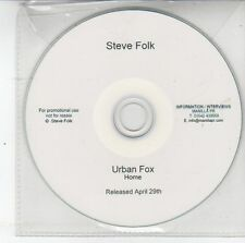 (DS785) Steve Folk, Urban Fox / Home - DJ CD