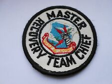 vintage patch of the strategic air command  master recovery team chief