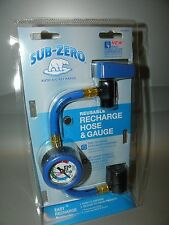 SUB-ZERO 401GMCS REUSABLE RECHARGE HOSE & GUAGE DIAL-IN QUICK CONNECT NEW