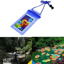 Travel Swimming Waterproof Bag Case Cover for 5.5 inch Cell Phone BU Christmas