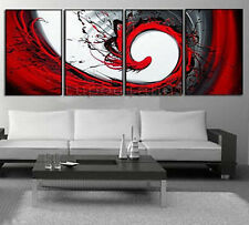 Hand oil painting red black white decoration Modern abstract Oil Painting