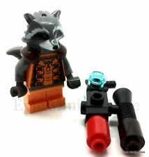 Custom Rocket Raccoon Minifigure GOG Superhero fits with Lego 180  UK Seller