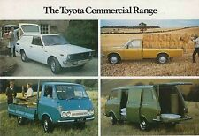 Toyota Corolla 30 Van Hilux Pick-Up & Hiace circa1976 Original UK Sales Brochure