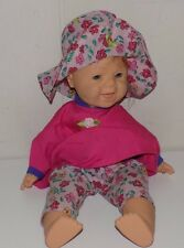 "Famosa Winking Doll 15"" Soft Body Doll Baby Red Hair"