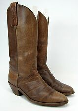 FRYE BROWN LEATHER TALL WESTERN COWBOY BOOTS WOMEN'S SIZE 7.5 D PULL ON