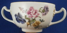 Rare Mid 18thC Meissen Porcelain Two Handled Floral Cup Porzellan Suppentasse