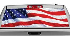 Truck Rear Window Decal Graphic [Flags / US Flag 2] 20x65in DC83904
