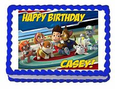 Paw Patrol edible party cake topper decoration frosting sheet image