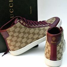 GUCCI New sz 39 G US 9.5 Auth Womens Guccissima Shoes Boots High Top Sneakers