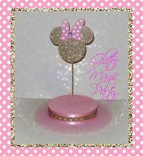 Minnie Mouse Light Pink and Gold Head - Lollipops or Cakepops Stand