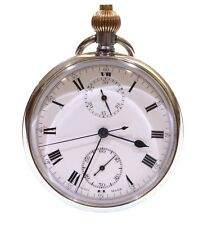 Complicated Swiss Chronograph Pocket Watch C.1910. Serviced.