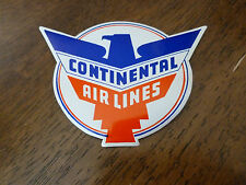 Vintage Luggage Label - Continental Airlines - Red/White & Blue - Classic Label