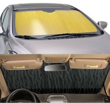 GOLD Sun Shade for windshield - CUSTOM Precision Cut - Pontiac