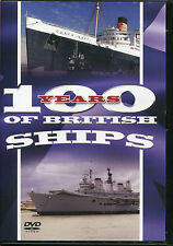 100 YEARS OF BRITISH SHIPS DVD QUEEN ELIZABETH II, VIKING & MANY MORE