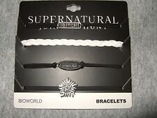 Supernatural Jerk Bitch Anti-Possession Cord Logo 4 Piece Bracelet Set jewelry