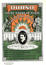 Vintage Magician Poster A4 Reprint Durno(1) Mystery and Fun