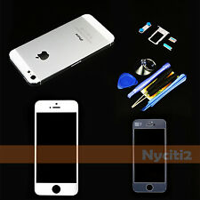 Complete Housing Back Battery Cover Mid Frame + LCD Screen Glass For iPhone 5 5G