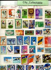 T476 # BULK 45 PCS SPORTS USED STAMPS JAPAN NEW ZEALAND AUSTRALIA ETC