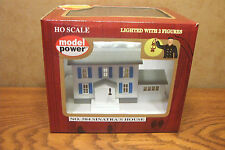 MODEL POWER SINATRA'S HOUSE BUILT-UP HO SCALE BUILDING LIGHTED