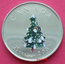 2007 25 cents Christmas Tree colorized - Brilliant Unc