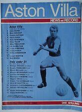 Programme 26.7.1969 Aston villa-Italy under 21