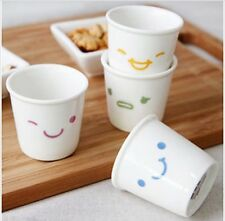 Smile Soju Glass Korean Traditional Glass Cup Gift & Home Party (4p Set) New