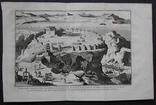 MAR MORTO - MASSADA - ISRAELE, Siege de Massada..... Anno 1730.