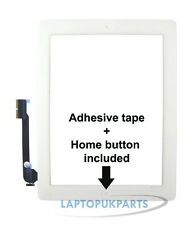 UK IPAD 3 3RD GENERATION WHITE COMPATIBLE FRONT GLASS TOUCH SCREEN DIGITIZER