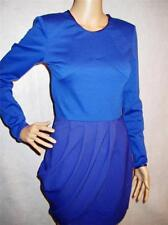 FINDERS KEEPERS ~STORY IN TIME DESIGNER BLUE PURPLE THICK STRETCH DRESS SZ S NWT