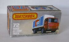 Repro Box Matchbox Superfast Nr.72 Dodge Delivery Truck