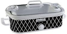 Crock-Pot SCCPCCM350-BW Casserole Crock Slow Cooker 3.5-Quart Black and White
