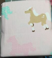 Circo Pretty Horses Wild Flannel 4pc Sheet Set Pink Sz QUEEN Flat Fitted& Shams