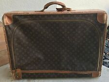 Vintage LOUIS VUITTON Monogram Canvas  Suitcase Trunk French Company from 1970's