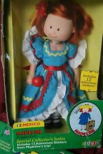 "New Doll 8"" Madeline Special Collectors Stickers International Mexico Costume"