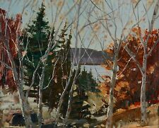 Sydney Berne (1921-2013) Oil Painting Autumn Landscape Quebec Listed Artist
