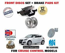 FOR SUZUKI SWIFT 1.6 SPORT M16A 2011-  NEW FRONT BRAKE DISCS SET + DISC PADS KIT