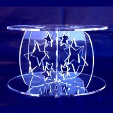 Acrylic Stars Cross Pillars 10cm High for our Wedding & Party Cake Stands