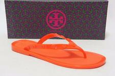TORY BURCH STUDDED JELLY THONG ORANGE SANDALS SHOES 6