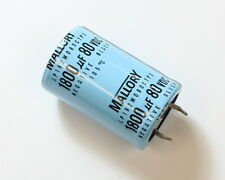 LOT 10x MALLORY 1800u 80V Aluminum Electrolytic Snap In Capacitor LP182M080C7P3