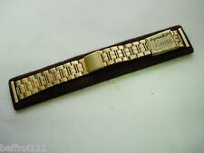 Bracelet doré band strap vintage 20 mm montre 70s moto,type RACING, N217