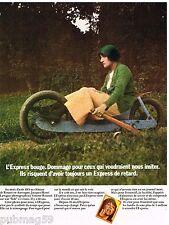 Publicité Advertising 1973 Le magazine L'Express par Jacques Henri Lartigue