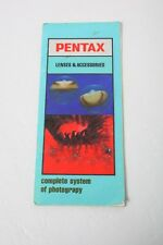 Pentax Lenses & Accessories - A Complete System of Photography -Brochure+English