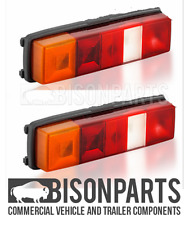 +FORD TRANSIT TIPPER PICKUP 1985 ON REAR TAIL LAMP LIGHTS RH & LH - TRA050 x2