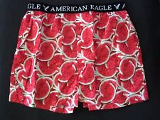 """MENS AMERICAN EAGLE OUTFITTERS """"WATERMELON"""" BOXER SHORTS SIZE L 35-38"""