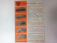 ✇ LANCIA Produzione 1950 Prospekt original von Aurelia Ardea bis zu LKW und Bus