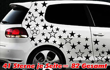 82 Sterne Star Auto Aufkleber Set Sticker Tuning Shirt Stylin WandtattooTribel w