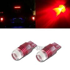 2pcs Red 7443 7440 Strobe Flashing LED Projector Bulbs For Car Tail Brake Lights