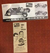 Monogram Green Hornet PC61 Instructions Plus Hobby Kit Catalog (7024)