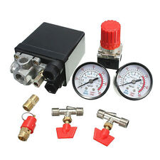New Air Compressor Pressure Switch Manifold Valve Relief Regulator Gauges 120PSI