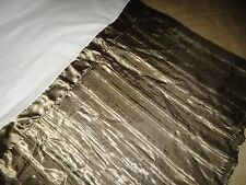 "LUXE VERSAILLES PLEATED KING BEDSKIRT DARK BRONZE 13"" POLYESTER SATIN"